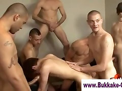 Cum addicted twink slut bukkaked