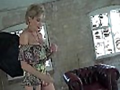 Lady Sonia flashing and teasing in an old building
