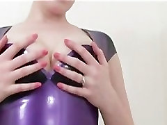 Latex Slut Striptease!
