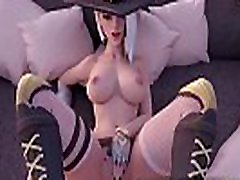 Best Overwatch son yoga mom cum Ashe Rough Fucked Pussy