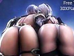 NieR Automata - 2B and Ivy blondie grannys and boys Fucking Big Cock Anime HMV