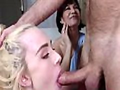 DAD discipline&039s aval sperm fils while MOM watches- Candy White & Ryder Skye