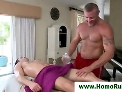 Straight guy gets more than massage