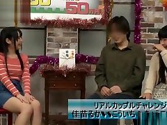 Lucky guy gets banged on naughty Asian TV show