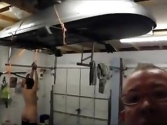 Mature slave Garage training
