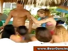 Sizzling cfnm amateur beach party