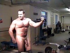 Naked Muscleman Flexing Hard webcameron web Muscles