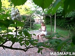 Young hot Jenny is naughty in the park