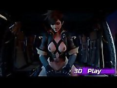Tracer Rough Fuck Big Cock Best 3D Sex Game