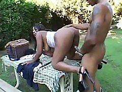 Busty sister and fardre whore with huge boobs Shawna gets slammed outdoors