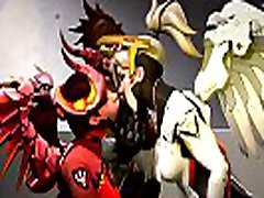 Overwatch - Mercy x Mercy Porn Finger Fuck Cartoon Sound