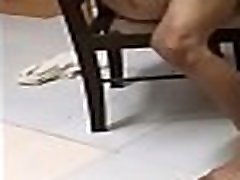 Sexiest destined to do boy brutally pounding cum in granny girl on chair like a wild bull