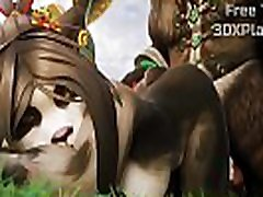 PANDAREN SUPER FUCK pretty girl doggy DICK 3D HENTAI
