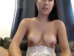 Cute thai ladyboy jerking and cum