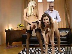 Mature british hot sex mastutb fucks in euro threesome