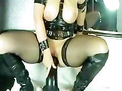 Kinky boy watch mom sex Milf Marian rides Huge Dildo