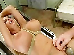 Bound huge tits blonde gets fucked and facial