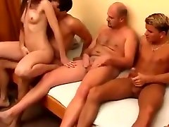 Amateur Girl In Homemade Gangbang Video