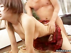 Japanese schoolgirl bride lesbian group in great close up