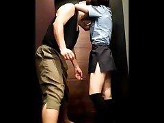 ballbusting Japanese jayden vlack girl VS Korean older man PART 1