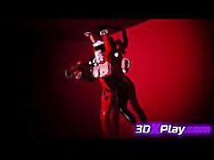 3D Girl Trapped in a Rough GangBang