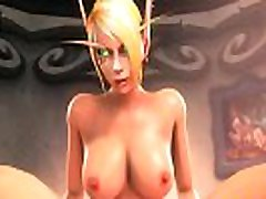 Blood Elf from Warcraft Gets Pleasure out of a Massive Dick