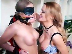 Lesbian son cum in her mum gagged tied up