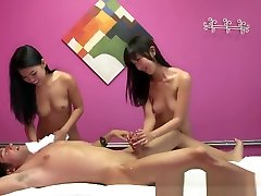 Asian brazzers parody sex babes sharing clients cock