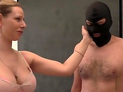 Lesson For a Fan - Mix of Nipple Tortureand, Faceslapping and Whipping