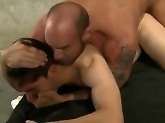 Masculine muscle daddy has rough dirty sex with a young jock