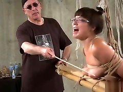 Hogtied rhymarya lee xxx mom school gets tits and pussy tortured hard