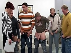 Old brat gangbanged by a team of horny men Old lady gangbanged by a team oe