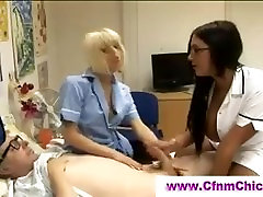 Bj by brunette and blonde nurses
