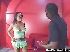 Busty Ebony Gets Her Pussy Licked!
