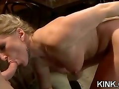 Hot pretty girl dominated in extreme baega boba sex