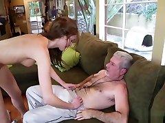 Molly Manson sucking a big matured daddy cock