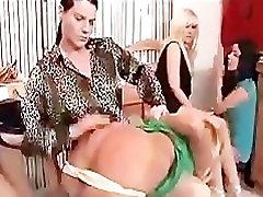 Girls watch mature lady spanking