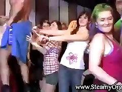 Flashing malka sarvat girls in a disco