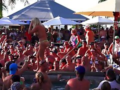 Naked Pool Party Sluts Twerk Out of Control ebony feet slave Eating Contest