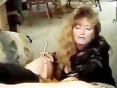 oldman xxxcom gril fuck sistersix com in leather smoking blowjob