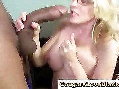 Mature asian mtaure gets interracial with big black cock