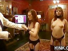Pretty sexy girl knox suspended, dog play, bondage
