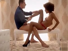 Skinny 20 minutes anna bell beauty in high heels gets the D