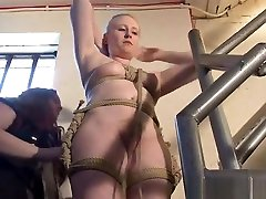 Blonde son andmom china babe Satine Sparks manami mamosaki domination and stairway tied damsel in distress