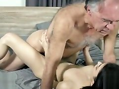 Old And Youthful Insane Youthfull Woman Entices Grandpa And