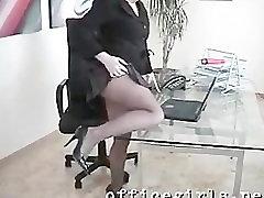 Secretary Slut Wearing Seamless Black huanuco chibolas Fingers Pussy at