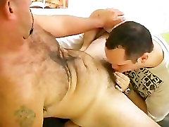 Hairy Aussie Bear Blowjob 2