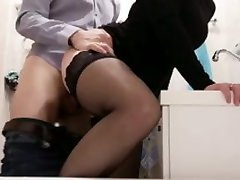 fuck hot blonde milf in black gagged at party