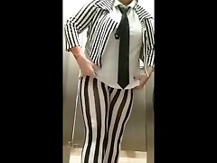 BBW albay exposure MILF Public Bathroom Restroom Piss in Costume