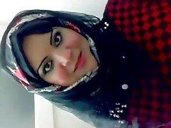 Arab Hijabi posing for picture